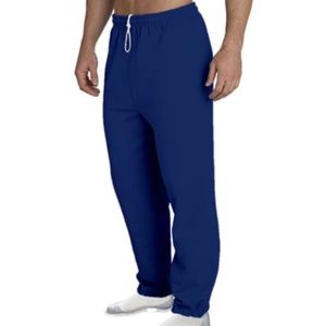 New Gildan Closed Bottom Navy Sweatpants w Pocket